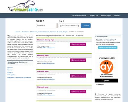 Pharmacies à Castillon-en-Couserans et...
