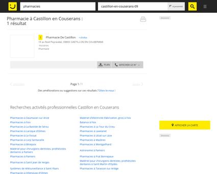 Pharmacie à Castillon en Couserans -...