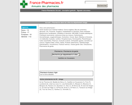Pharmacies, pharmacie de garde - Castillon...