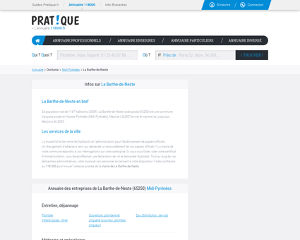 Entreprise La Barthe-de-Neste 65250, annuaire ...