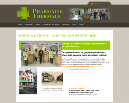 Accueil - Pharmacie Thermale © 2016