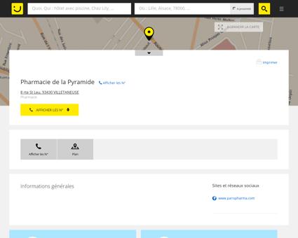 Pharmacie de la Pyramide Villetaneuse (adresse)