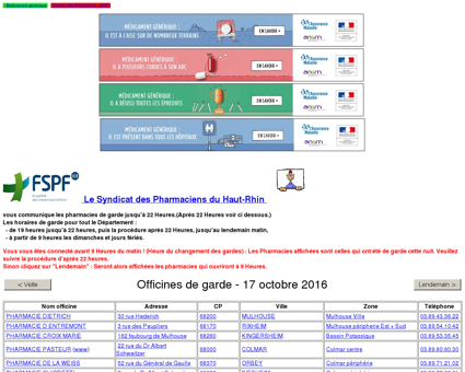Pharmacies de garde - Syndicat des...