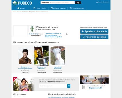 Pharmacie Vicdessos - pl Gravier 09220...