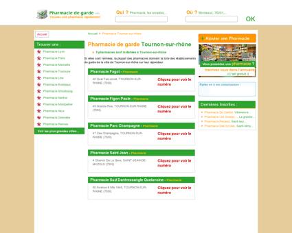 Pharmacie Tournon-sur-rhône - Trouvez une...