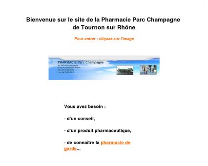Pharmacie Parc Champagne de Tournon sur...