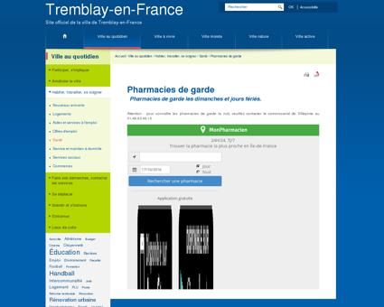 Pharmacies de garde - Tremblay en France