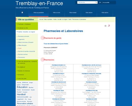 Pharmacies et Laboratoires - Tremblay en France
