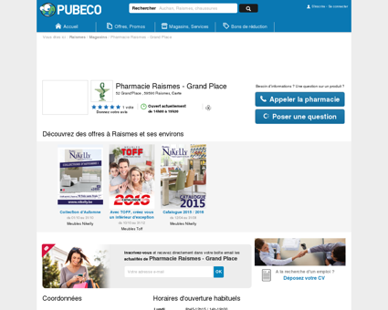 Pharmacie Raismes - Grand Place - 52...