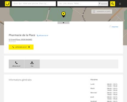 Pharmacie de la Place Raismes (adresse, horaires)