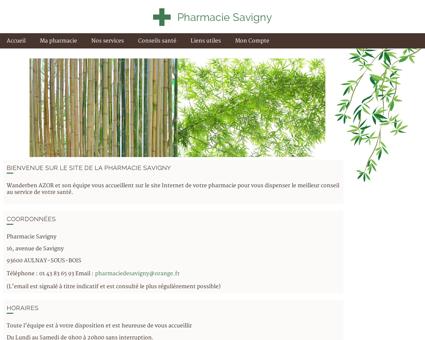 Pharmacie Savigny - Accueil