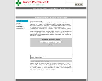 Pharmacies, pharmacie de garde - Varilhes -...