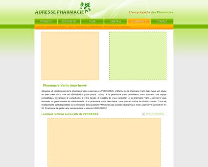Pharmacie Varin Jean-hervé à VERRIERES - 10390