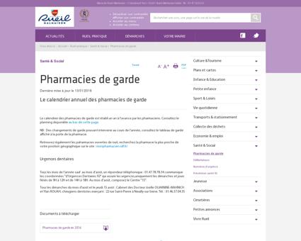 Pharmacies de garde | Rueil-Malmaison