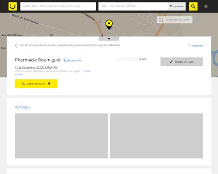 Pharmacie Roumiguié Samatan (adresse,...