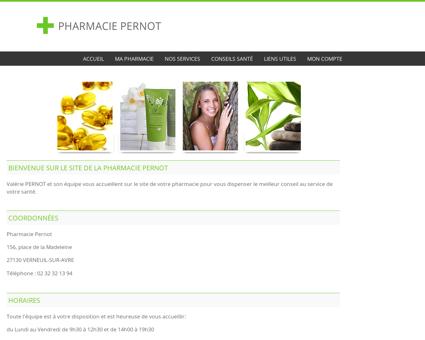 Pharmacie Pernot - Accueil