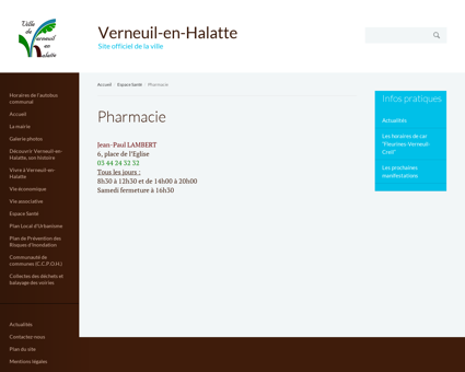Pharmacies | Verneuil-en-Halatte