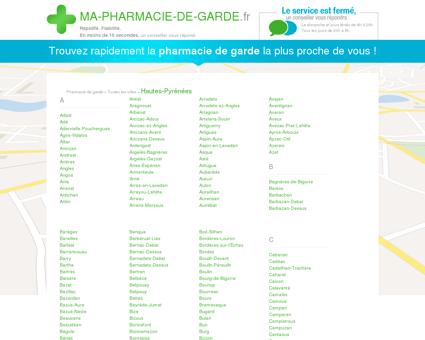 Pharmacies de garde dans le département 65 -...