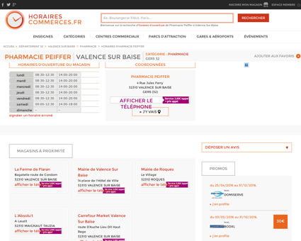 Pharmacie Peiffer à Valence Sur Baise, ses...