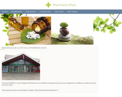 Pharmacie Khun - Accueil