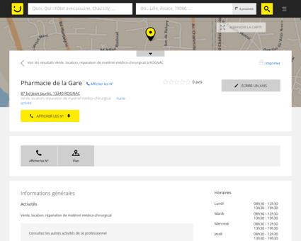 Pharmacie de la Gare Rognac (adresse, horaires)