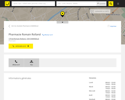 Pharmacie Romain Rolland Marseille (adresse,...