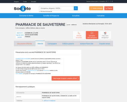 PHARMACIE DE SAUVETERRE (SAUVETERRE)...