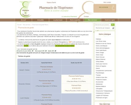 Pharmacies de garde Reims - Pharmacie de...