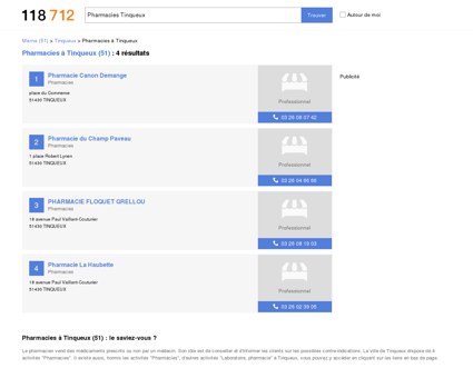 Pharmacies à Tinqueux (51430)