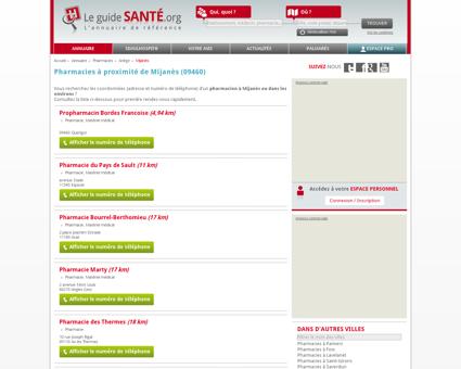 Pharmacien, Pharmacienne à Mijanès (09460) |...