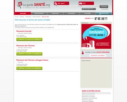 Pharmacien, Pharmacienne à Salies-du-Salat...