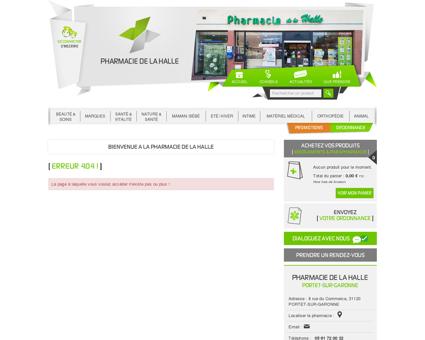 Votre Pharmacie | Pharmacie de la Halle -...