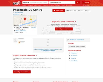 Pharmacie du Centre - Pharmacie -...