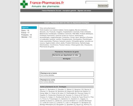 Pharmacies, pharmacie de garde - Montignac ...