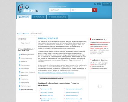 Pharmacie de nuit - Médecin - Annuaire des...