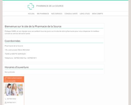 Pharmacie de la Source - Accueil