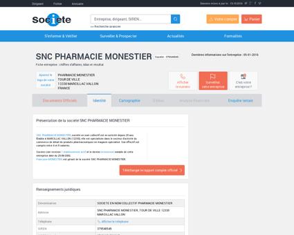 SNC PHARMACIE MONESTIER (MARCILLAC...