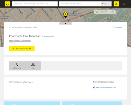 Pharmacie Parc Monceau Paris (adresse) -...