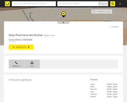 Selas Pharmacie des Roches Noisiel (adresse,...