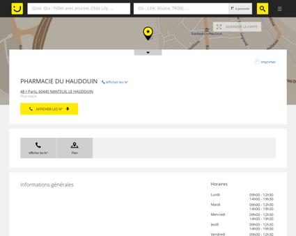PHARMACIE DU HAUDOUIN Nanteuil Le...