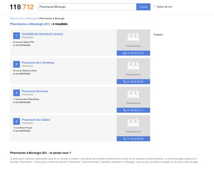 Pharmacies à Morangis (91420)