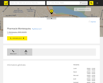 Pharmacie Montesquieu Angers (adresse) -...