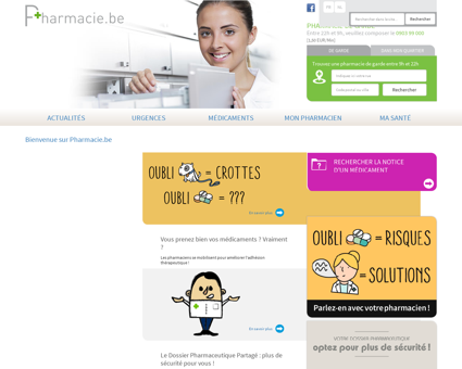 Bienvenue sur Pharmacie.be | Pharmacie.be