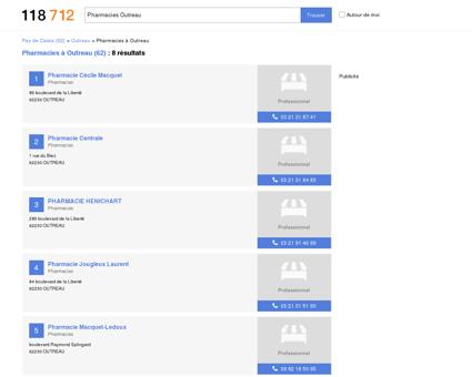 Pharmacies à Outreau (62230)