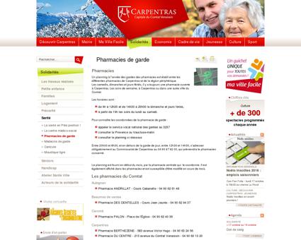 Ville de Carpentras - Pharmacies de garde