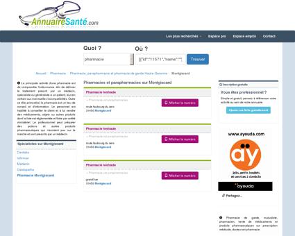 Pharmacies à Montgiscard et Parapharmacies