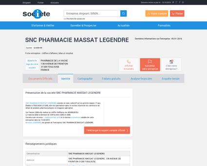 SNC PHARMACIE MASSAT LEGENDRE...