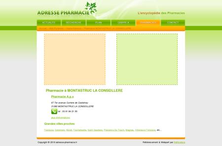 Pharmacie à MONTASTRUC LA CONSEILLERE
