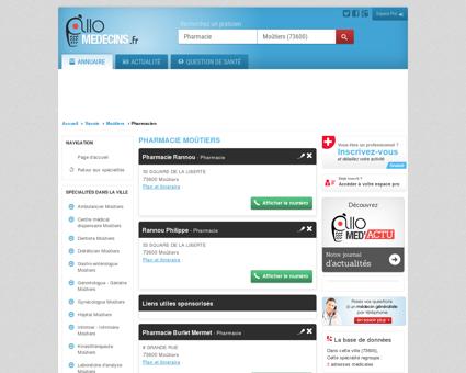 Pharmacie Moûtiers 73600 - Médecin -...