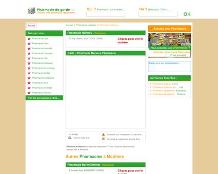 Pharmacie Rannou, Pharmacie à Moûtiers -...